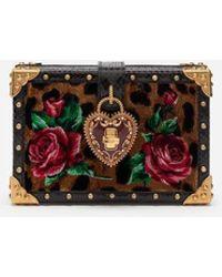 a7befbbed1ecfc Dolce   Gabbana - My Heart Clutch In Velvet Stitch - Lyst