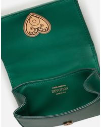 Dolce & Gabbana Micro Bag Devotion In Nappa Matelassé - Verde
