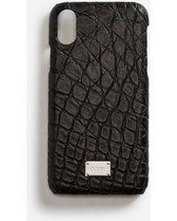 Dolce & Gabbana - Coque Iphone X Avec Détails En Crocodile - Lyst