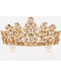 Dolce & Gabbana Tiara With Rhinestones - Metallic