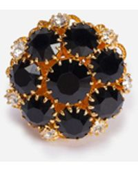 Dolce & Gabbana Ring With Rhinestone Decoration - Metallic