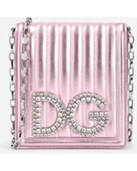 Dolce & Gabbana - Dg Girls Cross-body Bag In Quilted Mordoré Nappa Leather - Lyst