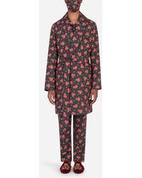 Dolce & Gabbana Pyjama-Set Mit Schutzmaske Röschen-Print - Mehrfarbig