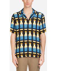 Dolce & Gabbana - Camicia Fit Hawaii In Lino Stampato - Lyst