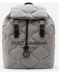 Dolce & Gabbana Nylon Palermo Tecnico Backpack With Logo Print - Negro
