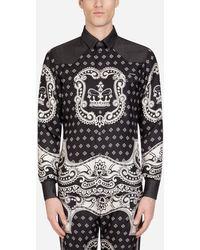 Dolce & Gabbana Jeanshemd Mit Einsätzen Im Bandana-Print - Mehrfarbig