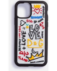 Dolce & Gabbana Iphone 11 Pro Case In Rubber With Writing - Multicolour
