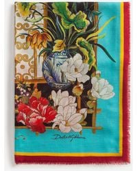 Dolce & Gabbana Scarf In Modal And Cashmere With Silk Road Print: 140 X 140Cm- 55 X 55 Inches - Multicolore