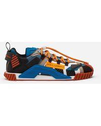 Dolce & Gabbana Sneaker Ns1 Aus Materialmix - Blau