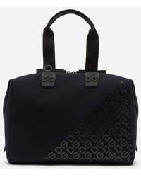Dolce & Gabbana Millennials Logo Bag In Neoprene With Rubberized Dg - Negro