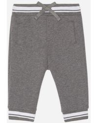 Dolce & Gabbana Jersey JOGGING Trousers With Dg Family Florists - Gray