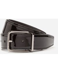 Dolce & Gabbana Patent Leather Belt - Black
