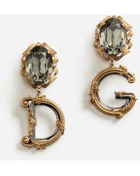 Dolce & Gabbana Pendant Earrings With Decorative Elements - Mettallic