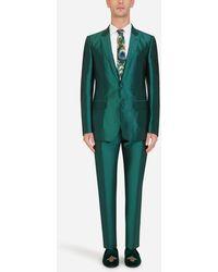 Dolce & Gabbana Mikado Silk Martini-fit Suit - Green