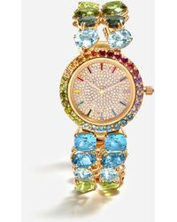 Dolce & Gabbana Watch With Multi-colored Gems - Metallic