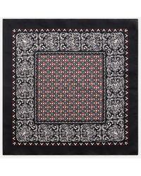 Dolce & Gabbana Silk Bandana With Bandana Print - Black