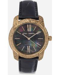 Dolce & Gabbana Uhr Aus Gold Und Perlmutt - Schwarz