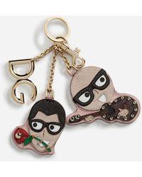 Dolce & Gabbana Designers' Charms Keychain - Pink