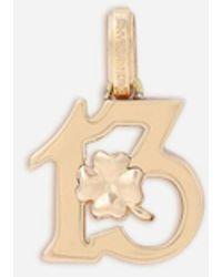 Dolce & Gabbana Good Luck Yellow Gold Charm - Metallic