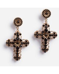 Dolce & Gabbana Pendant Earrings With Decorative Elements - Métallisé