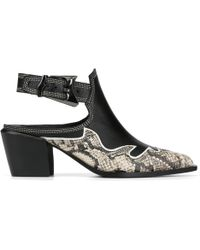 Donald J Pliner - Rivi Calf And Python Print Leather Bootie - Lyst