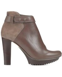 Donald J Pliner - Riala Kid Suede And Calf Leather Platform Bootie - Lyst
