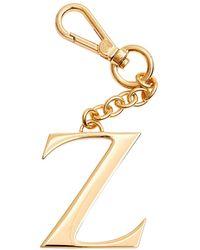 Dooney & Bourke Monogram Pendant Key Chain Letter Z - Metallic