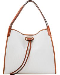 Dooney & Bourke Oncour Cabriolet Large Full Up - White