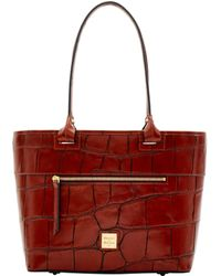 Dooney & Bourke Denison Beacon Zip Tote - Red