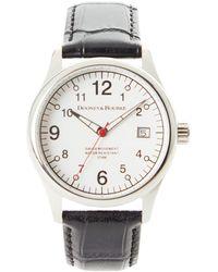 Dooney & Bourke Watches Fulton Croco Watch - Black