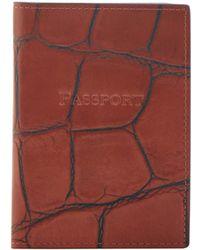 Dooney & Bourke - Croco Passport Case - Lyst