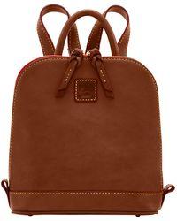 Dooney & Bourke Florentine Small Zip Pod Backpack - Brown