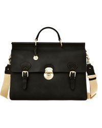 Dooney & Bourke Alto Double Gusset Buckle Briefcase - Black