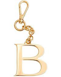 Dooney & Bourke Monogram Pendant Key Chain Letter B - Metallic