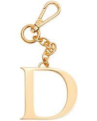 Dooney & Bourke Monogram Pendant Key Chain Letter D - Metallic