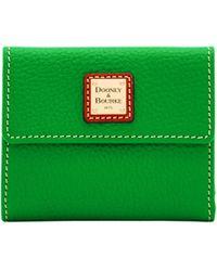 Dooney & Bourke Pebble Grain Small Flap Wallet - Green