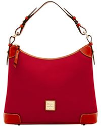 Dooney & Bourke Pebble Grain Hobo - Red