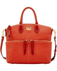 Dooney & Bourke Dillen Large Pocket Satchel - Red