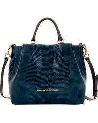 Dooney & Bourke - Embossed Lizard Large Barlow - Lyst