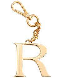 Dooney & Bourke Monogram Pendant Key Chain Letter R - Metallic