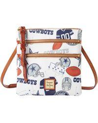 Dooney & Bourke Nfl Cowboys N S Triple Zip Crossbody - Multicolor