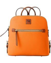 Dooney & Bourke Pebble Grain Backpack - Orange