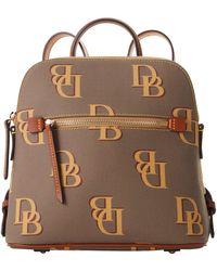 Dooney & Bourke Monogram Backpack - Brown