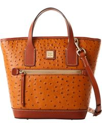 Dooney & Bourke Ostrich Small Convertible Tote - Black