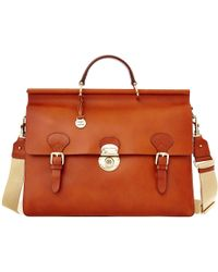Dooney & Bourke Alto Double Gusset Buckle Briefcase - Red