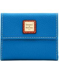 Dooney & Bourke Pebble Grain Small Flap Wallet - Blue