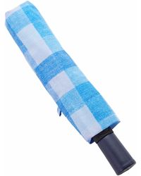 Dooney & Bourke Umbrellas Quadretto Check Umbrella - Blue