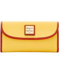 Dooney & Bourke Pebble Grain Continental Clutch - Yellow