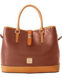 Dooney & Bourke Wexford Leather Perry Satchel - Natural