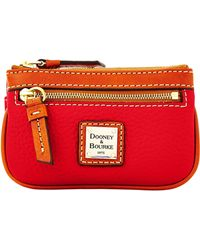 Dooney & Bourke Pebble Grain Small Coin Case - Red